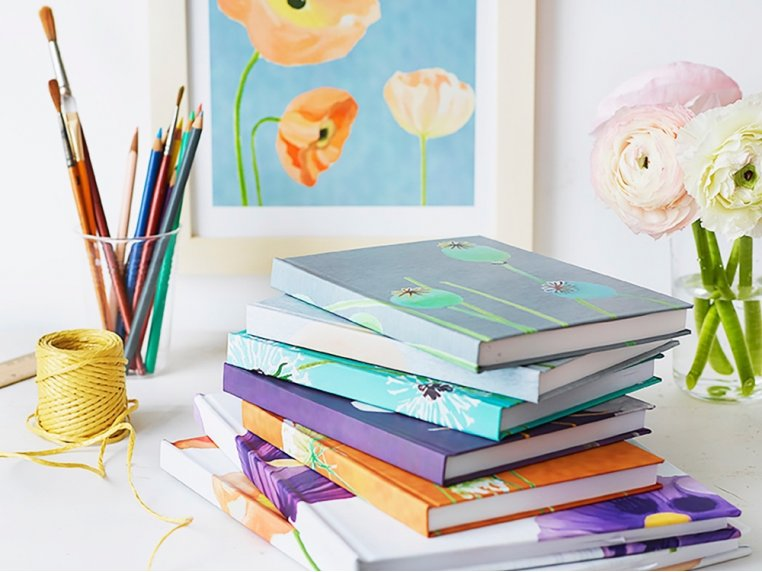 Floral Hardcover Journal by India & Purry by Jessica Hollander - 1