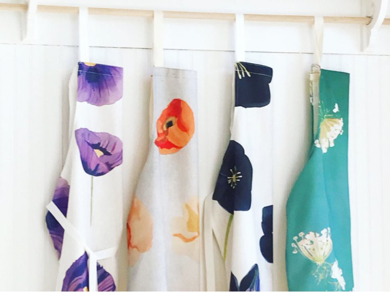 Floral Cotton Apron by India & Purry by Jessica Hollander - 1