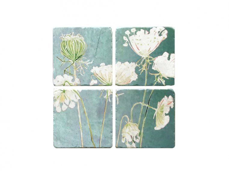 Floral Marble Coaster Set by India & Purry by Jessica Hollander - 3