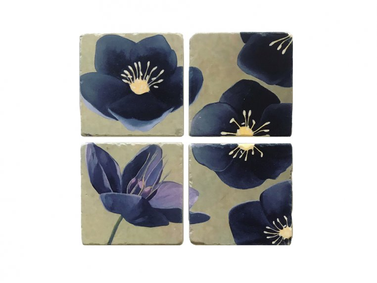 Floral Marble Coaster Set by India & Purry by Jessica Hollander - 5