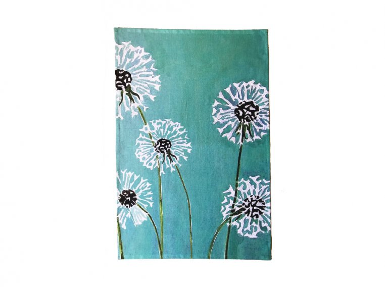 Floral Cotton Tea Towel by India & Purry by Jessica Hollander - 3
