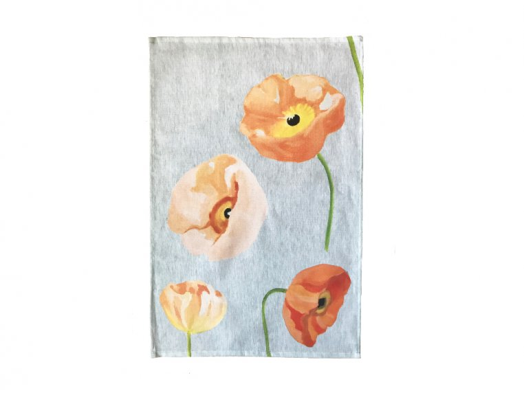 Floral Cotton Tea Towel by India & Purry by Jessica Hollander - 4