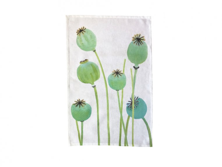 Floral Cotton Tea Towel by India & Purry by Jessica Hollander - 5