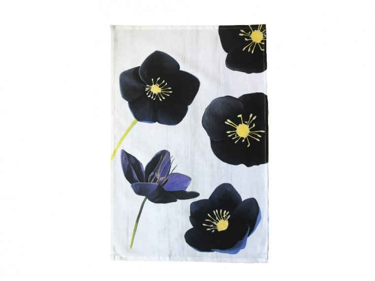 Floral Cotton Tea Towel by India & Purry by Jessica Hollander - 8