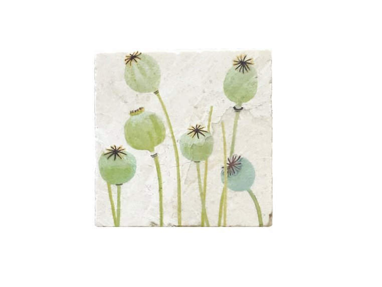 Floral Marble Trivet by India & Purry by Jessica Hollander - 6