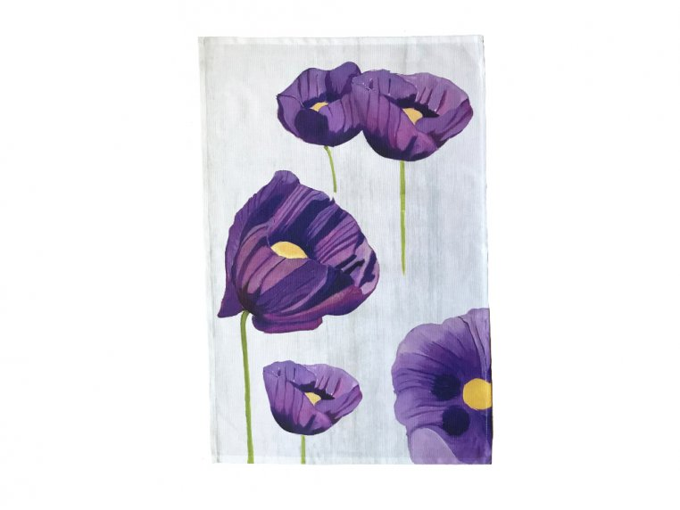 Floral Cotton Tea Towel by India & Purry by Jessica Hollander - 2
