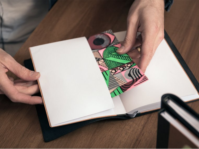 Refillable Leather Notebook by Endeavor Writing Co. - 3