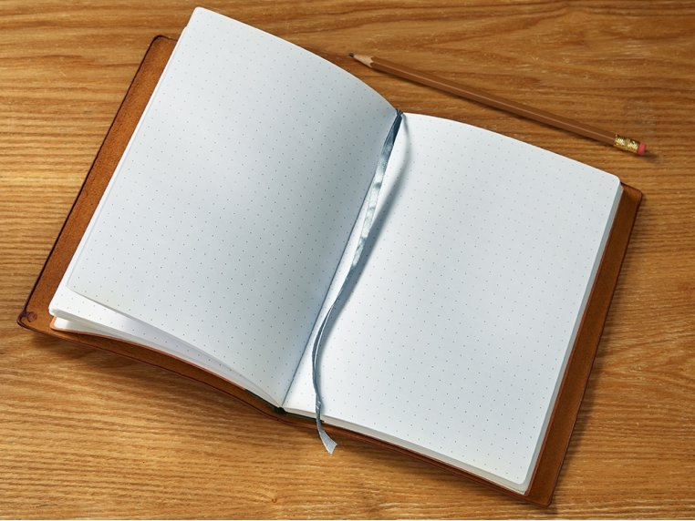 Refillable Leather Notebook Refill by Endeavor Writing Co. - 1