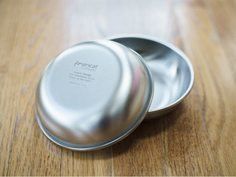 Stainless Steel Cat Food & Water Bowl by Americat Company - 5