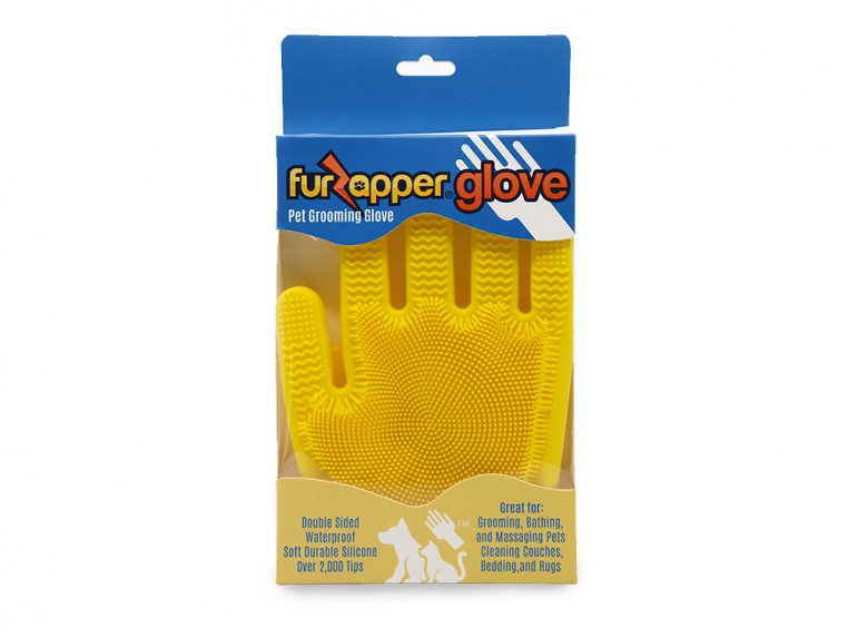 Silicone Pet Grooming Glove by FurZapper - 4