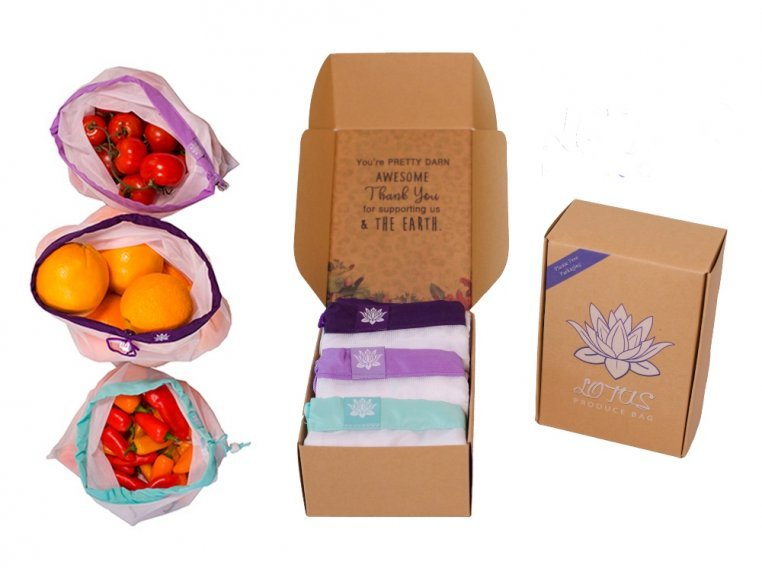Reusable Produce Bags - Set of 9 by Lotus Trolley Bag - 4