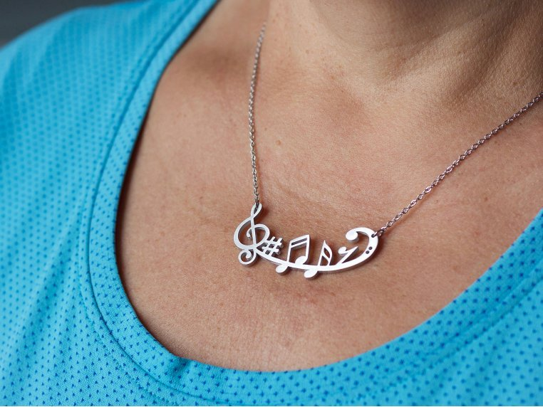 Music-Inspired Silhouette Necklace by Close 2 UR Heart - 2