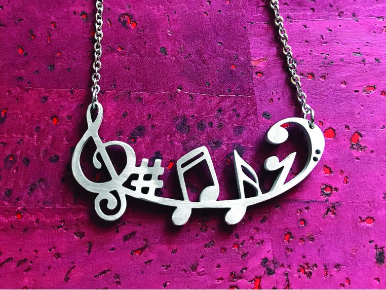 Music-Inspired Silhouette Necklace by Close 2 UR Heart - 1