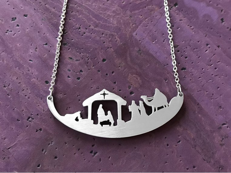 Religious Holiday-Inspired Silhouette Necklace by Close 2 UR Heart - 1