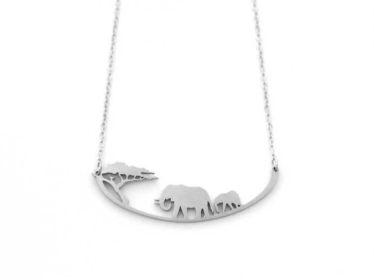 Nature-Inspired Silhouette Necklace by Close 2 UR Heart - 11