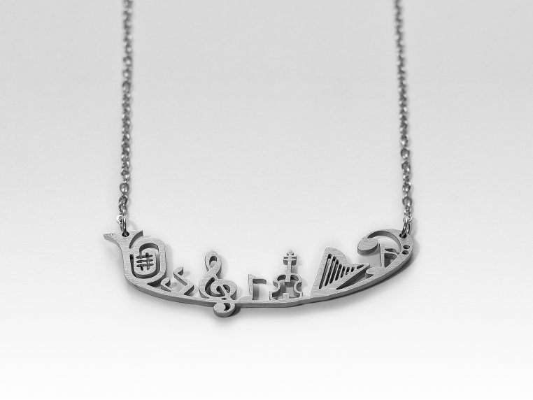 Music-Inspired Silhouette Necklace by Close 2 UR Heart - 5