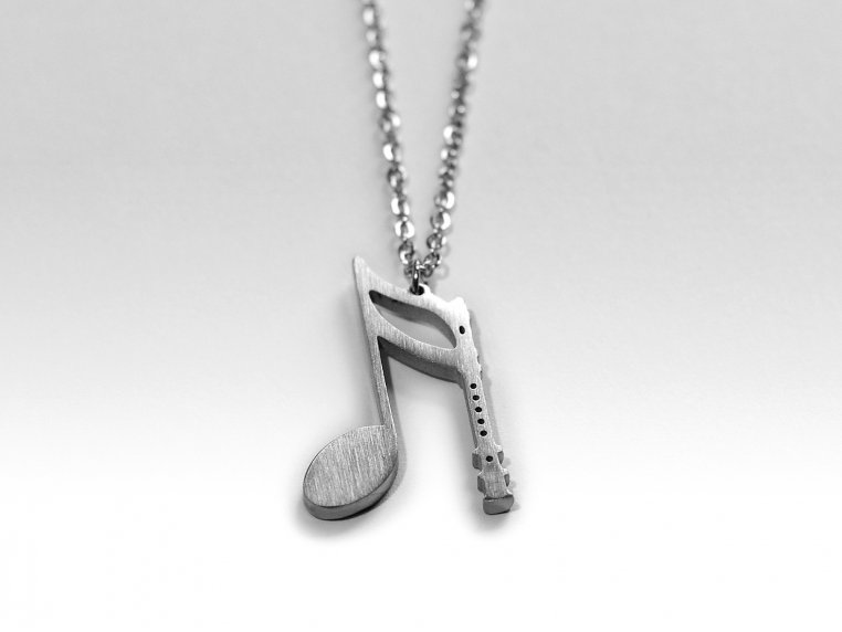 Music-Inspired Silhouette Necklace by Close 2 UR Heart - 6