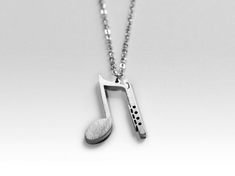 Music-Inspired Silhouette Necklace by Close 2 UR Heart - 7