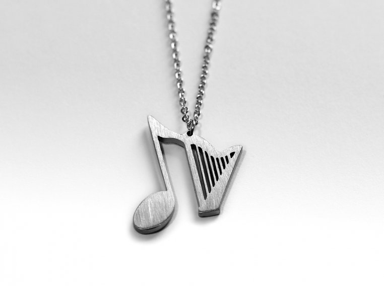 Music-Inspired Silhouette Necklace by Close 2 UR Heart - 9