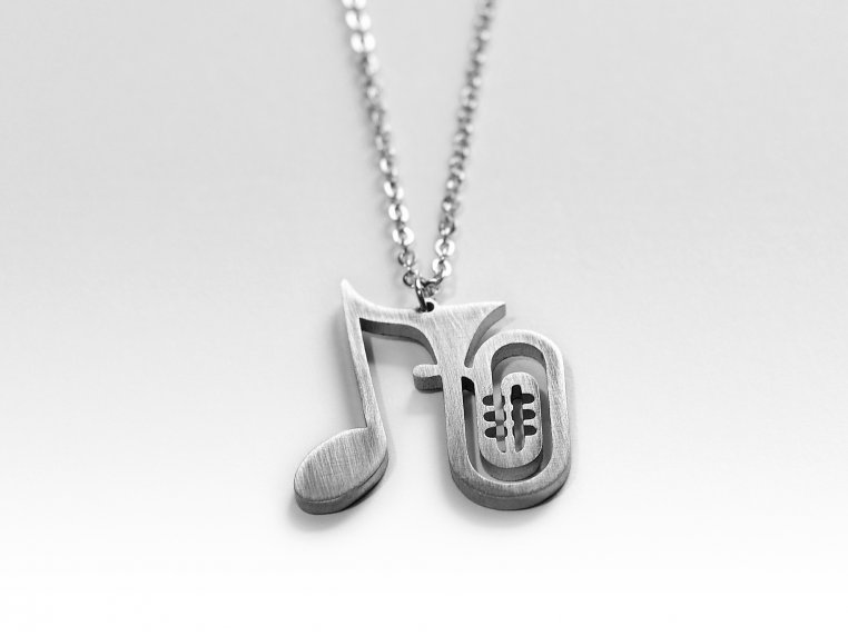 Music-Inspired Silhouette Necklace by Close 2 UR Heart - 10