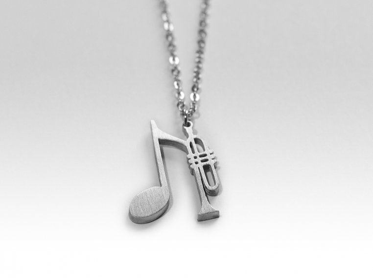 Music-Inspired Silhouette Necklace by Close 2 UR Heart - 11