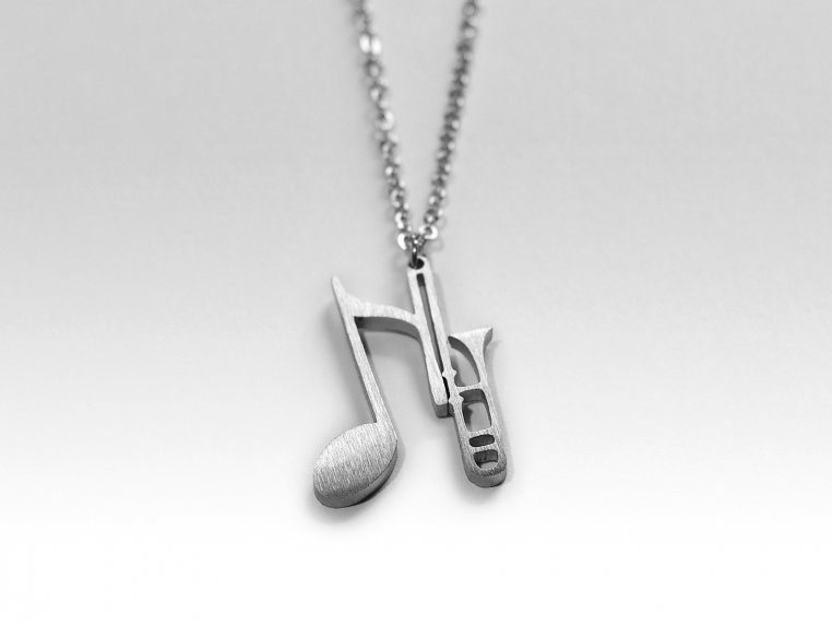Music-Inspired Silhouette Necklace by Close 2 UR Heart - 12