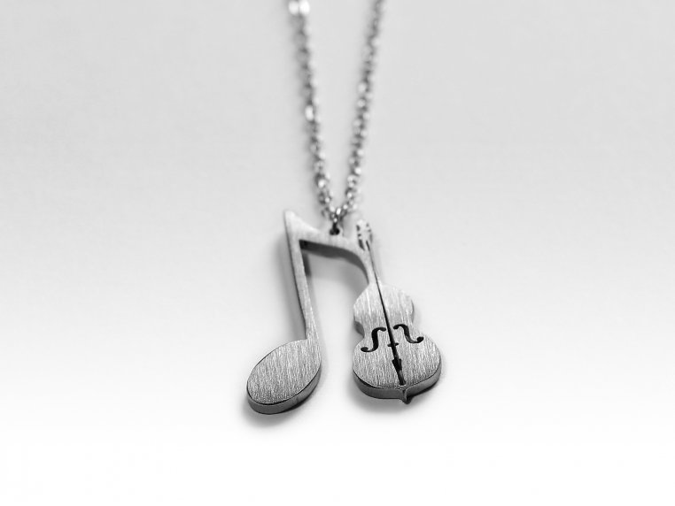 Music-Inspired Silhouette Necklace by Close 2 UR Heart - 14