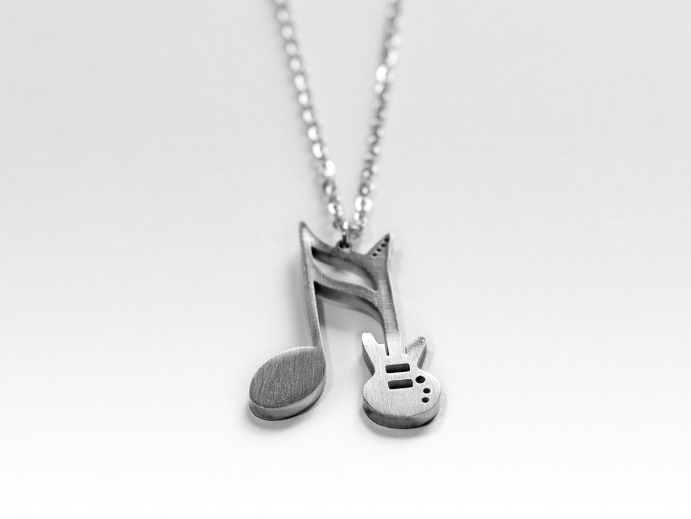 Music-Inspired Silhouette Necklace by Close 2 UR Heart - 15