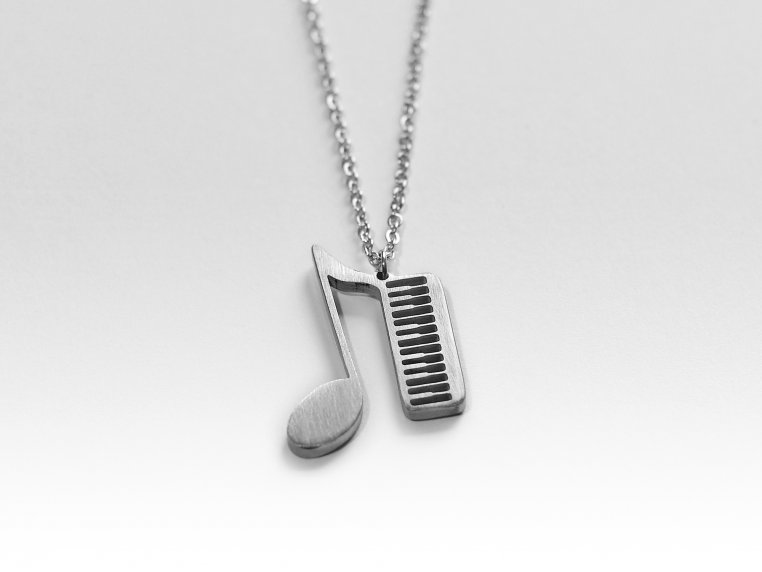 Music-Inspired Silhouette Necklace by Close 2 UR Heart - 16