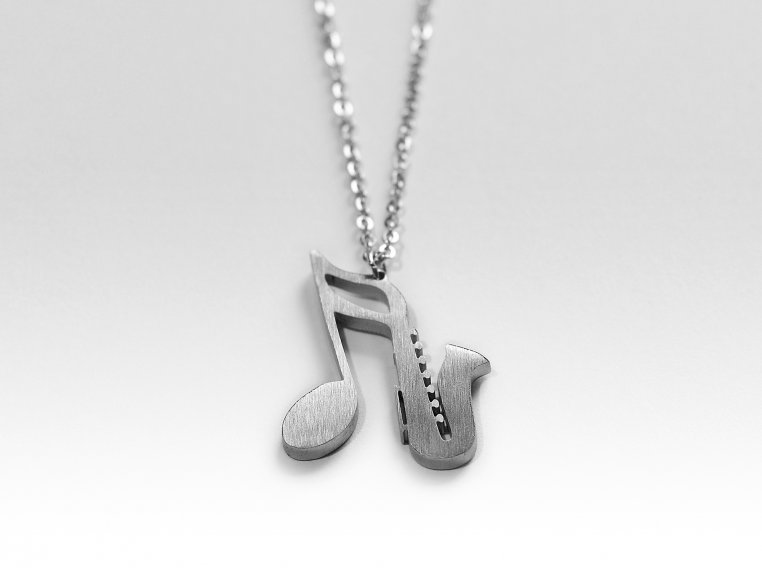 Music-Inspired Silhouette Necklace by Close 2 UR Heart - 17