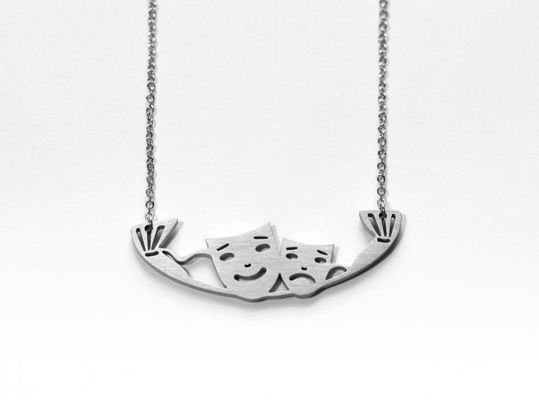 Music-Inspired Silhouette Necklace by Close 2 UR Heart - 18