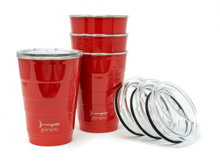 Reusable Party Cup with Lid by Pirani Life - 8