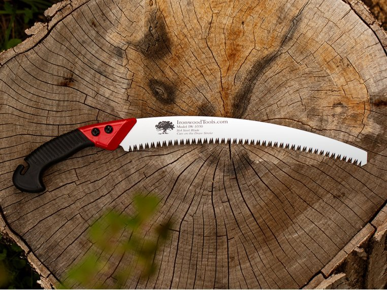 Curved Pistol Grip Pruning Saw by Ironwood Tools - 1