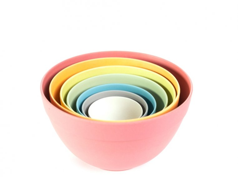 Seven Piece Bamboo Nesting Bowls by Bamboozle Home - 3