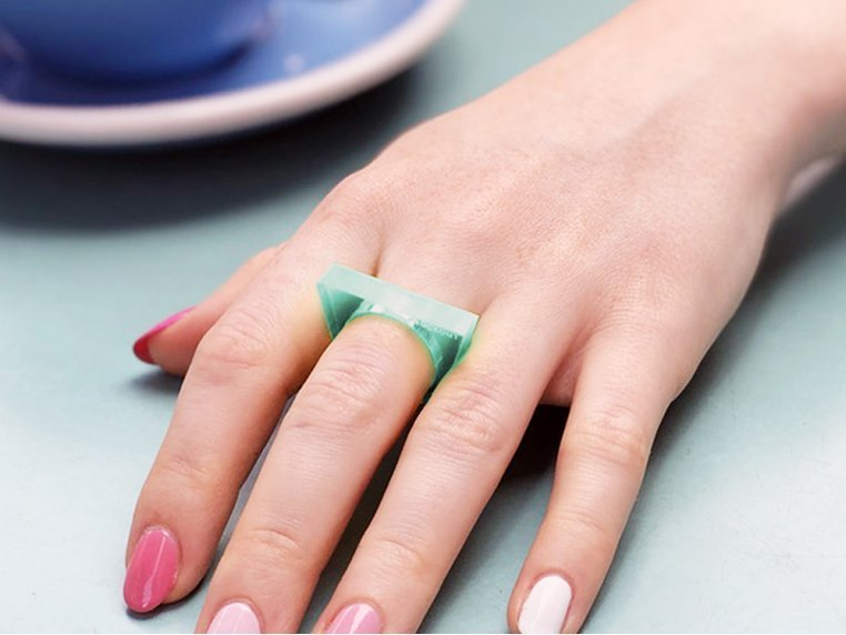 Lucite Self Defense Ring by Knockout - 1