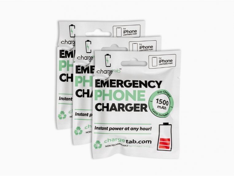 Single-Use Emergency Phone Charger by Chargetab™ - 5