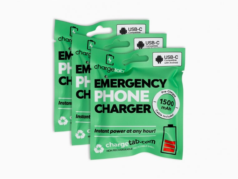 Single-Use Emergency Phone Charger by Chargetab™ - 6