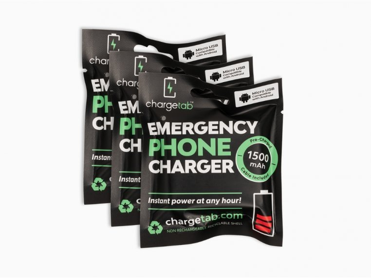 Single-Use Emergency Phone Charger by Chargetab™ - 7