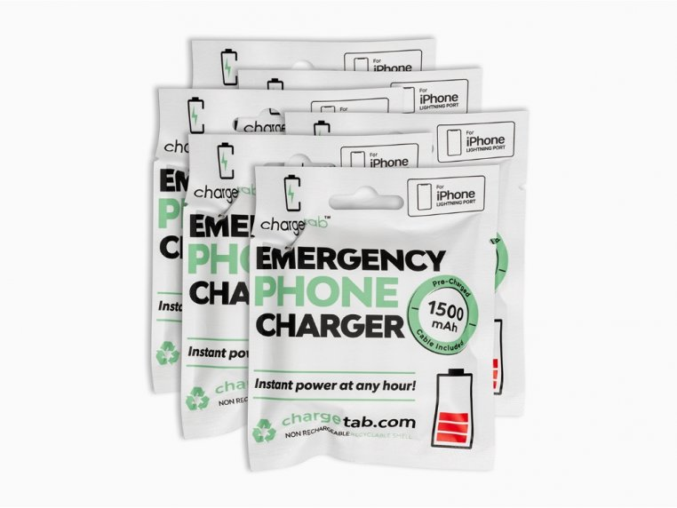Single-Use Emergency Phone Charger by Chargetab™ - 8