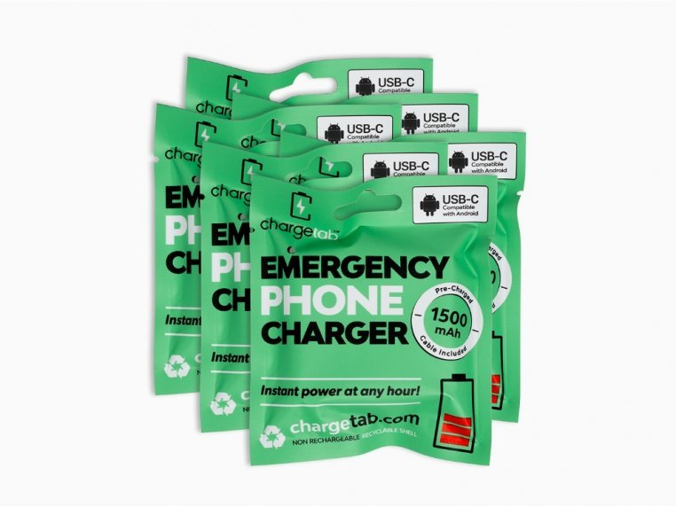 Single-Use Emergency Phone Charger by Chargetab™ - 9