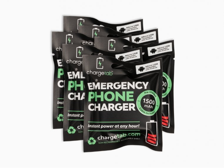 Single-Use Emergency Phone Charger by Chargetab™ - 10