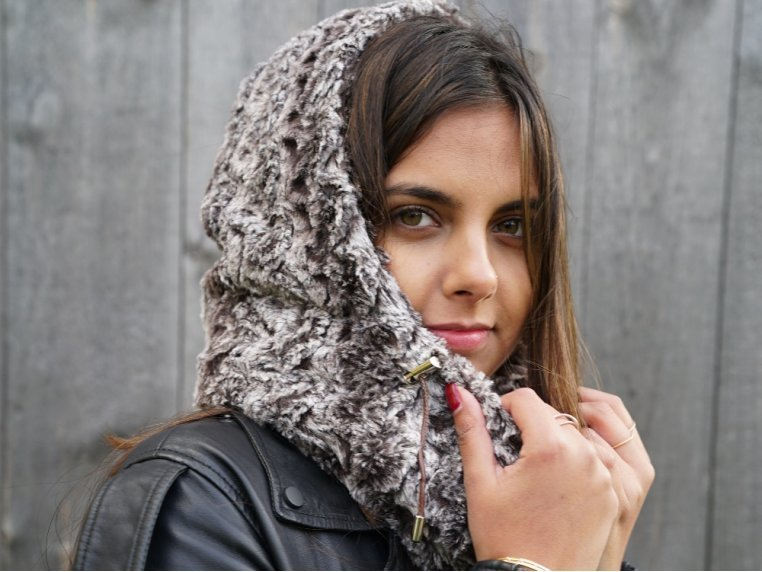 Lifestyle Winter Hooded Scarf by Overeasy - 4