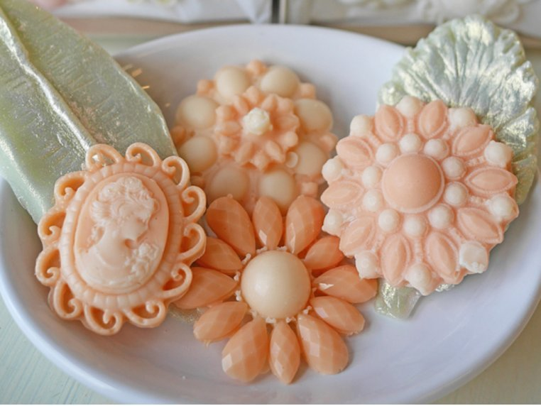 Decorative Brooch Soap Set by A'marie's Bath Flower Shop - 2