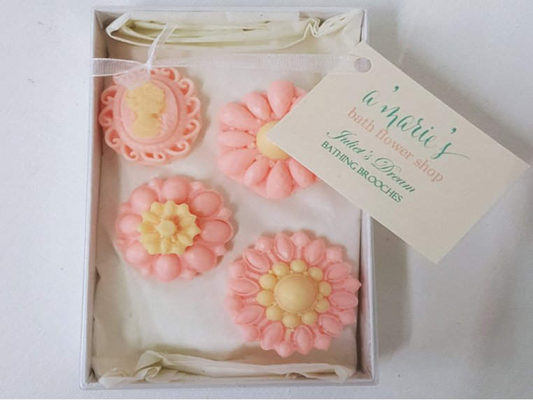 Decorative Brooch Soap Set by A'marie's Bath Flower Shop - 3