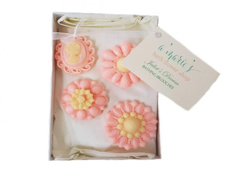 Decorative Brooch Soap Set by A'marie's Bath Flower Shop - 4