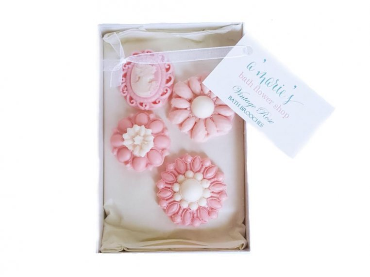 Decorative Brooch Soap Set by A'marie's Bath Flower Shop - 5
