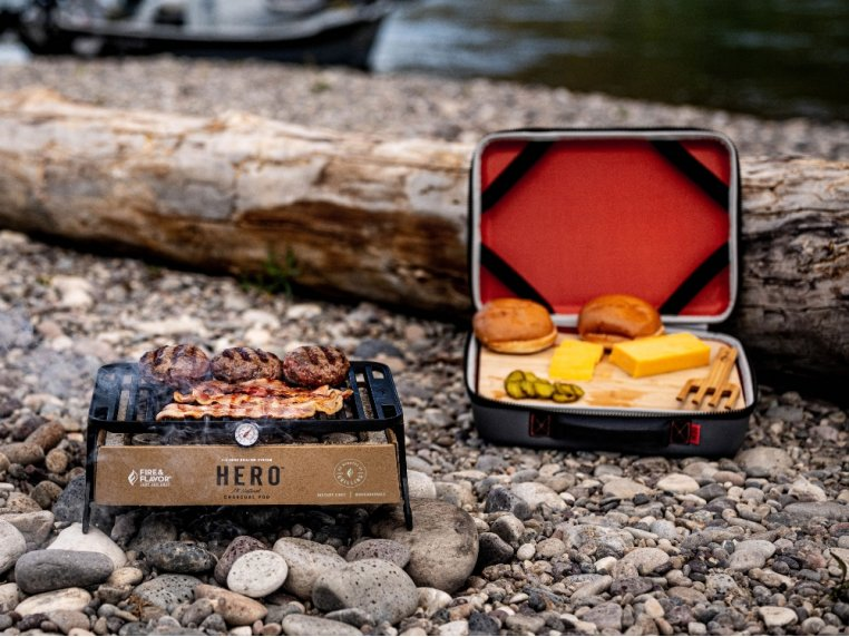 HERO™ Portable Charcoal Grill by Fire & Flavor - 3