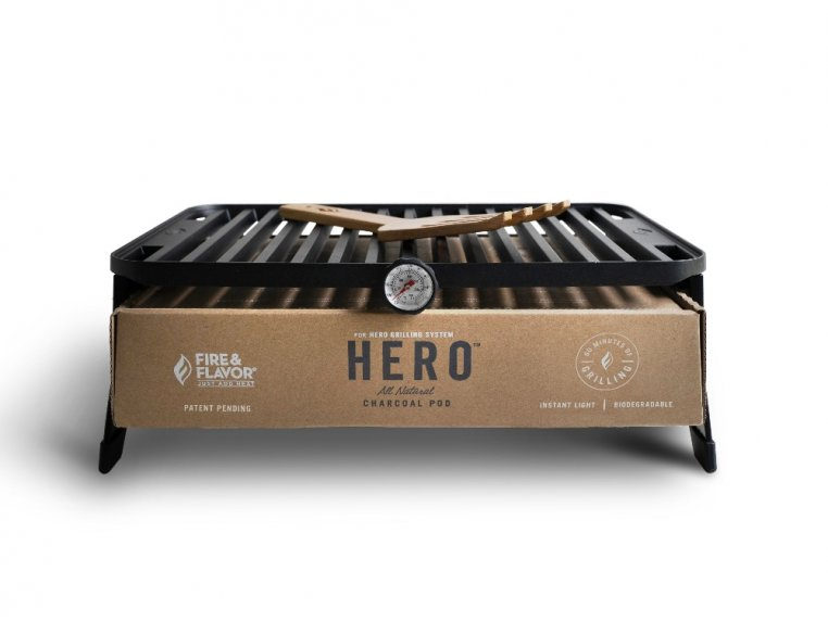 HERO™ Portable Charcoal Grill by Fire & Flavor - 7