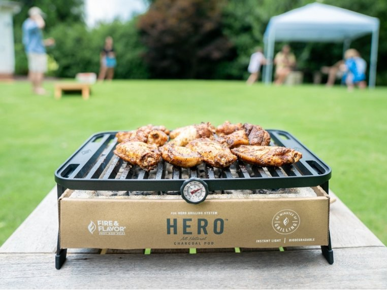 HERO™ Portable Charcoal Grill by Fire & Flavor - 1