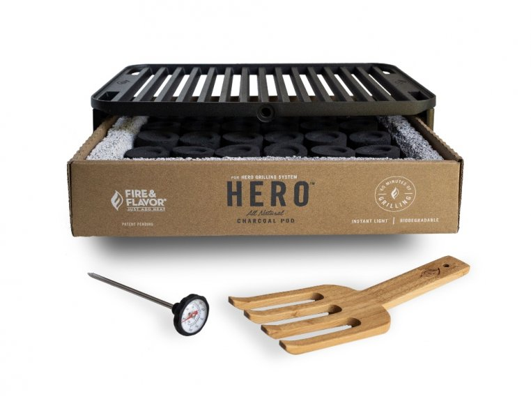 HERO™ Portable Charcoal Grill by Fire & Flavor - 8